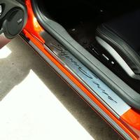 2010-2012 Camaro Door Sill Plates - Brushed/Polished Stainless Steel
