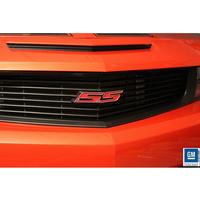 2010-2011 Camaro SS Heritage Grille Emblem - Red SS with Polished Outer