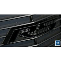 2010-2011 Camaro RS Heritage Grille Emblem - Gloss Black RS with Satin Black Outer