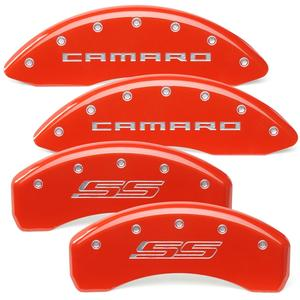 2010-2015 Camaro Color Matched Caliper Covers SS Model (Brembo Brakes)  - Camaro & SS Script