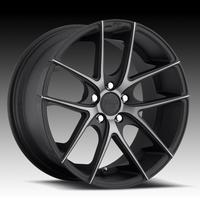 "2010-2012 Camaro Wheels - Niche ""Targa Sport Series"" - Black Machined (Set of 4) : RS & SS Sizes"