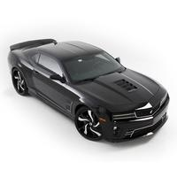 2010-2013 Camaro Tomahawk Hood Vent with Mesh Grille : Gloss Black