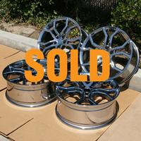 2010-2014 Camaro HAVOC Wheels (Set) : Bright Chrome 20x8/20x9 - USED