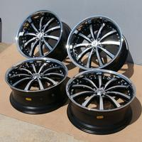 "2010-2014 Camaro RS - 20"" Lexani LSS-10 Wheels (Set) : Black w/Machined Face 20x8.5/20x10 - USED"