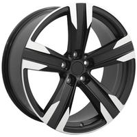 Camaro 2010-2014 Matte Black/Machine ZL1 Style Reproduction Wheel - Solid 5 Spoke