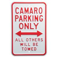 """Camaro Parking Only"" Sign"