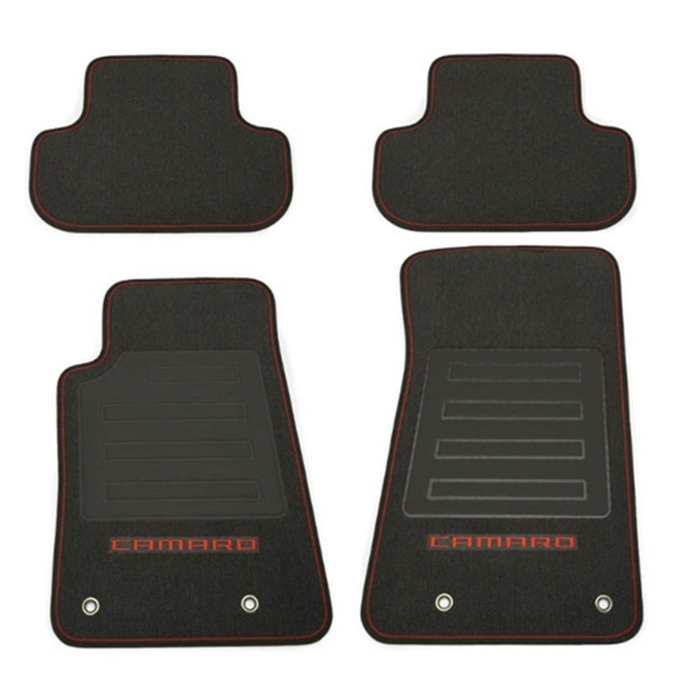 ebony logo front s camaro lloyd velourtex silver ss mats mat double products floor chevrolet
