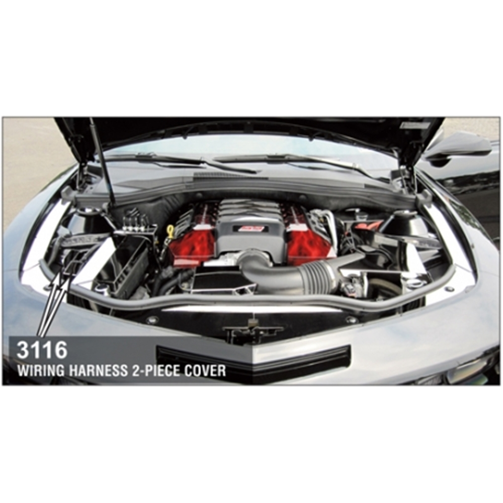 2007 camaro wiring harness cover polished stainless steel 2 pc Plastic Wiring Harness Cover at couponss.co