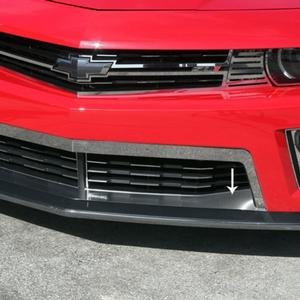 2012-2015 ZL1 Camaro Splitter Lower Front Trim : Brushed Stainless Steel
