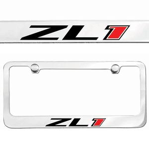 zl1 camaro license frame chrome