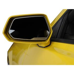 "Camaro Side View Mirror Trim ""SUPERCHARGED"" Style Brushed 2Pc"