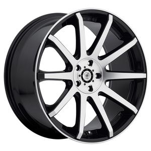 "2010-2014 Camaro Wheels - Dropstar ""643MB"" - Satin Black w/Machined Lip (Set of 4) :RS & SS"