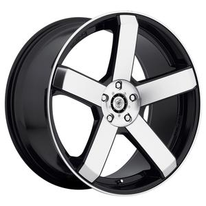 "2010-2014 Camaro Wheels - Dropstar ""644MB"" 5 Spoke - Satin Black w/Machined Lip (Set of 4) :RS & SS"