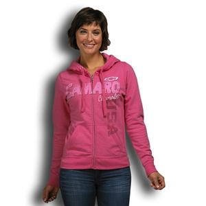 Camaro Full Zip Hoodie - Heather Hot Pink