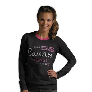 Camaro Muscle Scoop Neck Sweatshirt - Heather Black