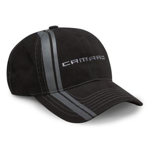 Camaro Double Stripe Hat - Black / Charcoal