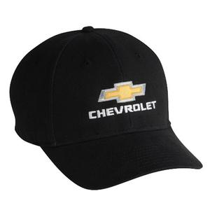 Chevrolet Gold Bowtie Embroidered Black Hat/Cap