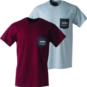 Chevrolet Diamond Plate Pocket T-Shirt