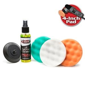 "Adam's FOCUS 4"" Porter Cable Polishing Pad Kit : For Porter Cable Polishers"