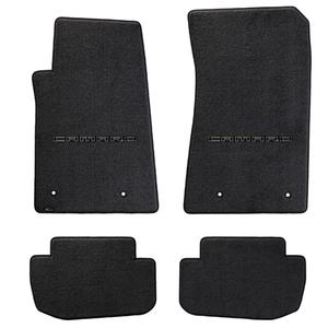 2010-2015 Camaro Floor Mats 4 Pc. Set (Black Lettering)