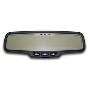 "Camaro Rear View Mirror Trim ""ZL1"" Style Brushed Rectangle"