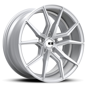 XO Luxury Verona X253 Wheels - Matte Silver w/ Brushed Face