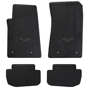 2010-2015 Camaro RS Floor Mats 4 Pc. Set (Black Logo)