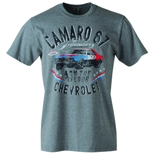Camaro 67 on the Floor T-Shirt - Heather Grey