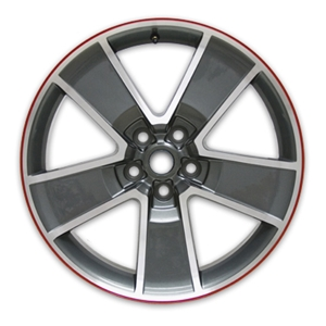 "2010-2014 Camaro 20"" Five Spoke Red Line Wheels - Gray with Machined Face (Set of 4) :RS & SS"