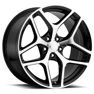 Z28 Camaro Reproduction Wheels - Black w/ Machined Face