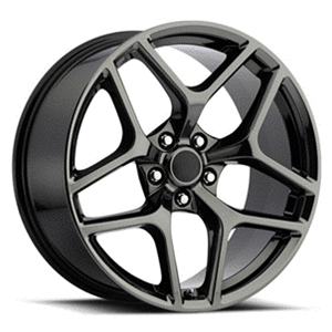 Z28 Camaro Reproduction Wheels - Black Chrome
