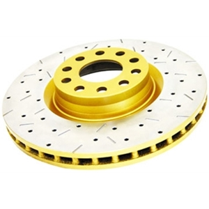 DBA Drilled & Slotted Rear Brake Rotors  5th Gen Camaro V6