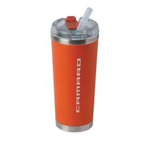 Camaro Brooklyn Tumbler Vacuum Insulated w/ Camaro Script - Orange
