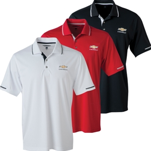 Chevrolet Bowtie Men's Collar and Sleeve Trim Polo