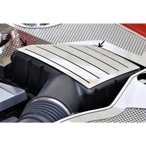 2010-2013 Camaro Stock Air Box Filter Cover - Polished Stainless Steel