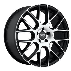"2010-2011 Camaro Wheels - Niche ""Circuit"" Black w/Machined Face (Set) : 20x8.5/20x10.5"