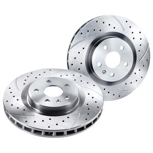 2010-2015 Camaro Granatelli Extreme Performanc​e Slotted Rotors - Silver
