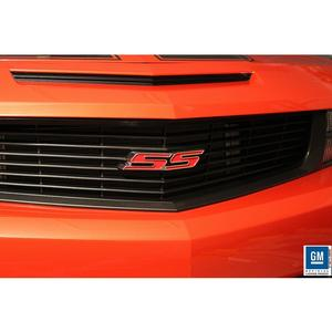 2010-2013 Camaro SS Heritage Grille Emblem - Red SS with Polished Outer
