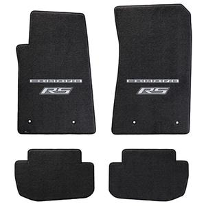 2010-2015 Camaro Floor Mats 4 Pc. Set (Silver Lettering & RS Logo)