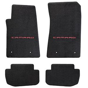 2010-2015 Camaro Floor Mats 4 Pc. Set (Red Lettering)