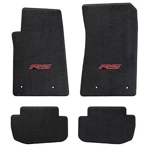 2010-2015 Camaro RS Floor Mats 4 Pc. Set (Red Logo)