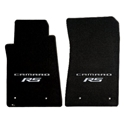 2010-2015 Camaro Floor Mats 2 Pc. Set (Silver Lettering & RS Logo)