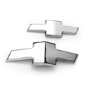 2010-2013 Camaro Front and Rear Bowtie Emblems Billet Aluminum - Chrome