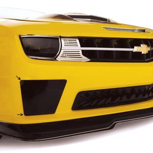 2010-2013 Camaro SS - Bumble Bee Style Smoked Lexan Blackout Fog Light Covers