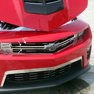 2012+ ZL1 Camaro - Front Grille Trim Kit - Polished Stainless Steel - 13 pc.