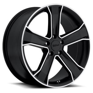 "2010-2014 Camaro Wheels - Ultra ""Knight"" - Gloss Black w/Diamond Cut Accents (Set of 4) :RS & SS Sizes"