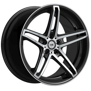 "2010-2014 Camaro Wheels - Tis ""536MB"" - Gloss Black w/Machined Lip (Set of 4) :RS & SS"