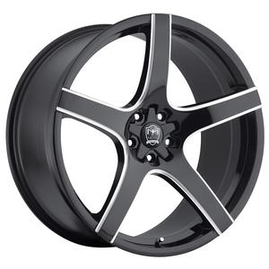 "2010-2014 Camaro Wheels - MOTIV ""410MB Maranello"" - Gloss Black w/Milled Accents (Set of 4) :RS & SS Sizes"