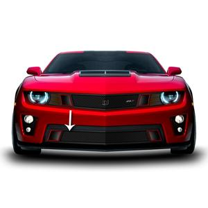 2010-2013 Camaro GT Strada Grille V8 Lower - Black w/Brushed Accent Trim