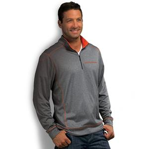 After Hours Quarter Zip - Charcoal / Orange